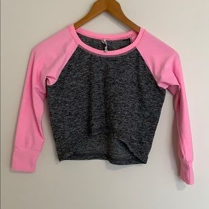 Triple Flip Cropped Long Sleeve Girl's Top